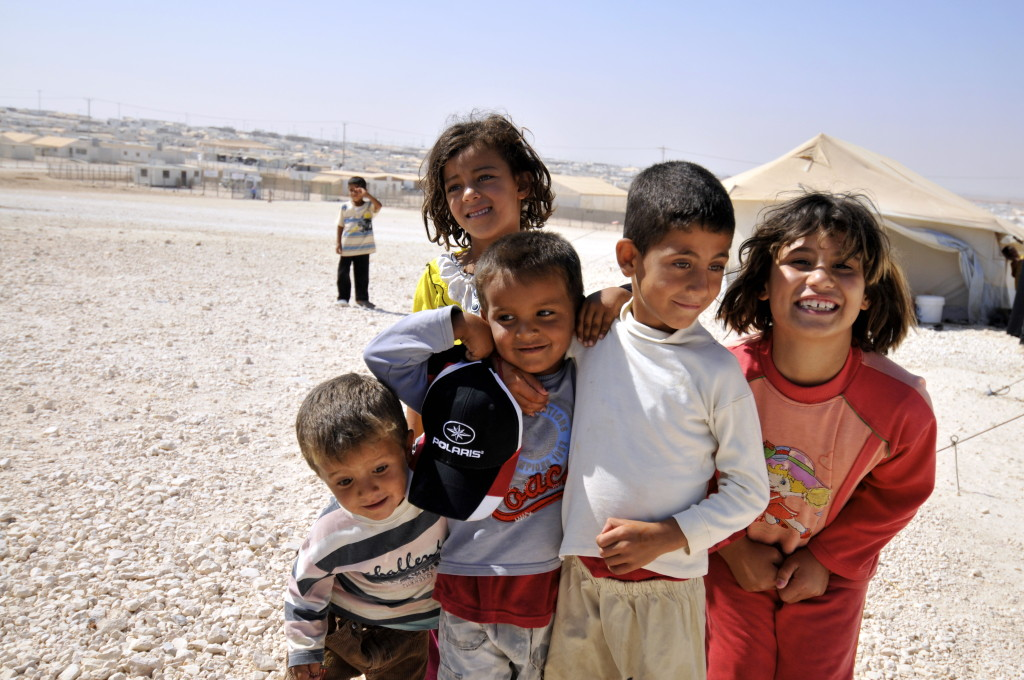 Young Syrian refugees at a the Zaatari refugee camp in Jordan, August 2013. Photo courtesy of the Foreign and Commonwealth Office. Creative Commons.