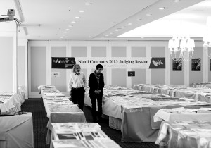 Judges peruse the submissions during the Nami Concours 2013; in total, they reviewed 619 entries from 42 countries. Photo courtesy of NAMBOOK International Secretariat