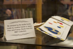 Tactile books on display at the IBBY Collection of Books for Young People with Disabilities. Photo: Camilia Kahrizi