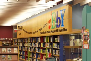 IBBY Collection of Books for Young People with Disabilities in its new home at the North York Central Library branch of Toronto Public Library. Photo: Camilia Kahrizi