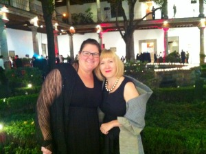 Shannon Babcock (left) and Meghan Howe (right) at the IBBY Congress in Mexico City. Photo courtesy of Shannon Babcock