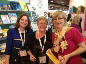 Sharon Moynes (left) and Leigh Turina (centre) of Toronto Public Library, with Viera Anoskinova (right), vice-president of IBBY Slovakia and head of the Biennial of Illustration Bratislava Secretariat, Bratislava. Photo courtesy of Catherine Mitchell.
