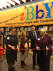Ribbon cutting ceremony at the Silent Books Exhibit in Toronto on November 2, 2015. Photo courtesy Leigh Turina.