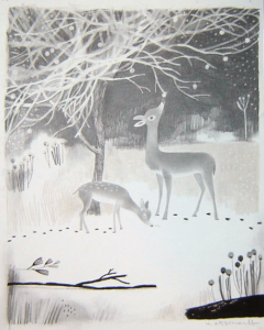 1st PRIZE: original cover art from Once Upon a Northern Night (Groundwood Books, 2013), signed by Isabelle Arsenault