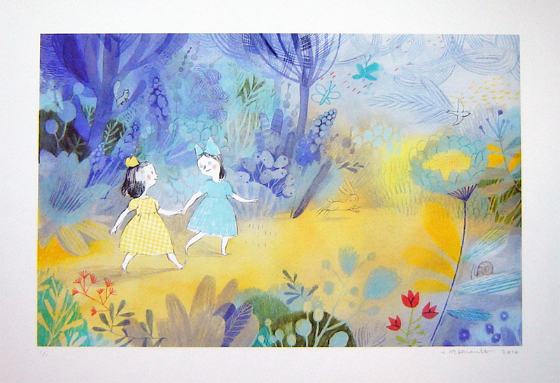 2nd PRIZE: Giclée print from Virginia Wolf (Kids Can Press, 2012), signed by Isabelle Arsenault