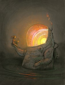 Shaun Tan, Story Furnace, Giclee print from original Gouache on paper, 210 mm x 270 mm, $150 plus shipping