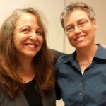 Patricia Storms (left), recipient of the 2014 Joanne Fitzgerald Illustrator in Residence Program. Martha Newbigging (right) received the inaugural residency in 2013. Photo courtesy of Helena Aalto
